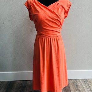 Garnet Hill Juliet knit dress coral